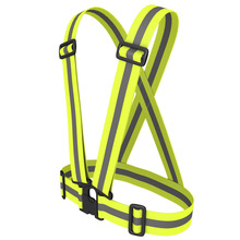 Buy Unisex Safety High Visibility Reflection Vest Outdoor Running Cycling Vest Harness Reflective Belt Safety Jacket Adult Child for $8.39 in AliExpress store