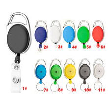 Retractable Pull Keychain Lanyard ID Badge Holder Name Tag Card Belt Clip Key Ring Chain Buckle