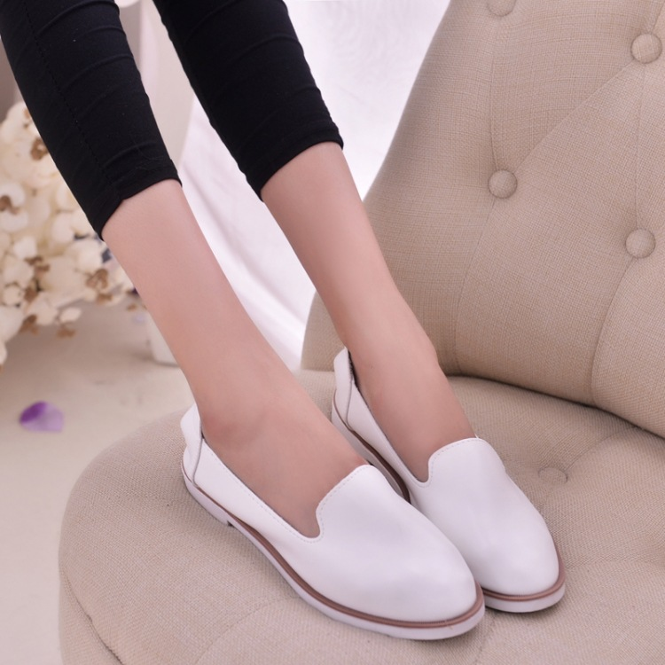 2017 Spring white shoes female  flats  causal shoes single  boat shoes for women<br><br>Aliexpress