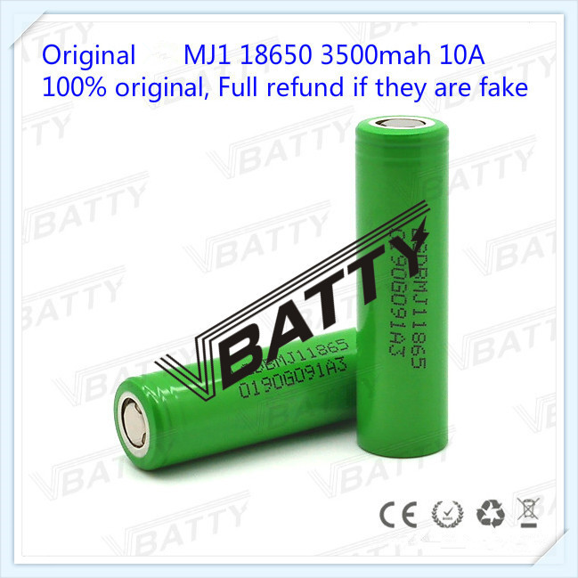 LG 18650 RECHARGEABLE 3.6V BATTERIE Li-ion 3500 mAh MJ1 10A UNPROTECTED NEU