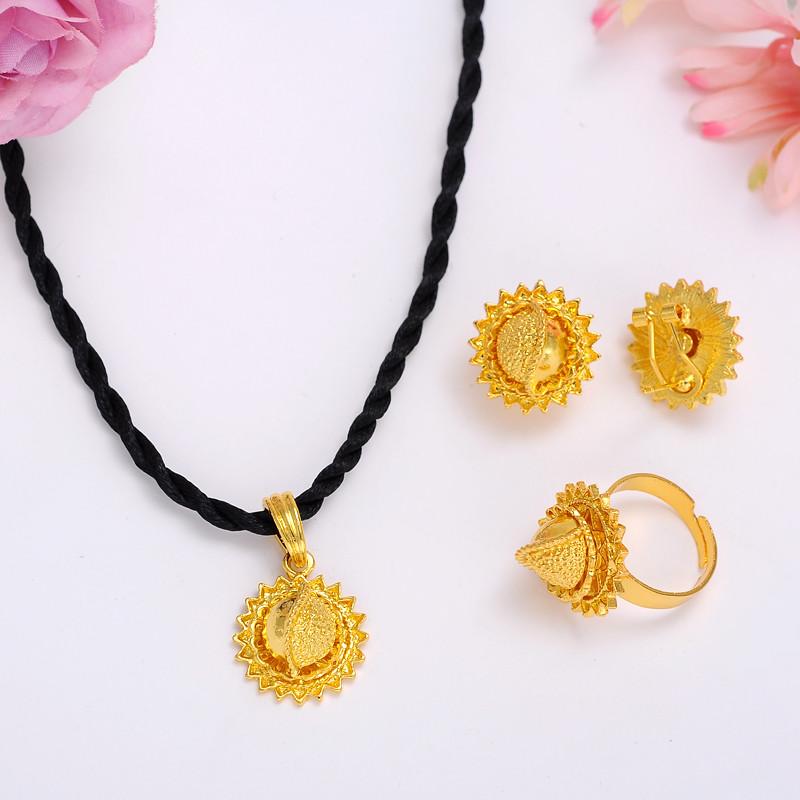 Ethiopian-Gold-Jewelry-Sets-Earrings-Pendant-Ring-KenyaTraditional-African-bridal-Habesha-Women-Party-African-wedding-gift (2)_