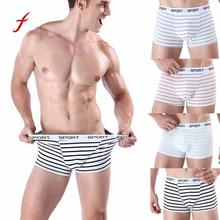Buy 2018 Brand Male Men's Boxer Soft Comfortable Striped Underpants Knickers Shorts Sexy Panties Underwear mens Underpant
