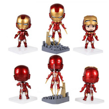 Marvel The Avengers Iron Man 10cm PVC Action Figure Model Collectible Gift Toy(China)