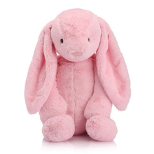 High Quality Cuddly Long Ear Bunny Fluffy Rabbit Plush Toys Cushion Stuffed Soft Dolls Kid Partner Birthday Gift