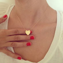 Gold Tiny Heart Necklace, Gold Romantic Necklace, Friendship Necklace,Petite Necklace  XL254