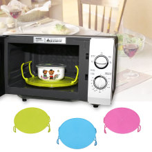Microwave Oven Bowls Rack Cover Dish Plate Holder Insulated Double Layer Tool