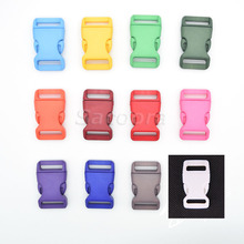 12pcs/pack 3/4'' Plastic Colorful Contoured Side Release Buckles Webbing Size 20mm For Paracord Bracelets/Backback  12 Colors