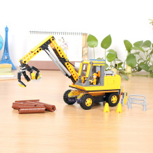 COGO Construction Engineering Series Forklift Dumpers Building Block Toy Bricks DIY for Girl Birthday Christmas Gift
