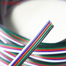 HCSOYES 5 pins 5m/10m/20m led connector rgb cable Extension Cable Electric Wire Lighting Connecting  for led strip