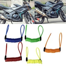 Motorcycle Motorbike Disc Lock Spring Reminder Quad Cable Scooter Bike Rope New