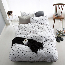 100% Cotton Black White Triangle Bedding set 4Pcs King Queen Twin size Girls Kids Bed set Duvet cover Bedsheet linen Pillowcases