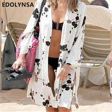 New Arrivals Beach Cover up Print Swimwear Ladies Walk on The Beach Cape Robe de Plage Tunic Women Beachwear Saida de Praia #Q22(China)