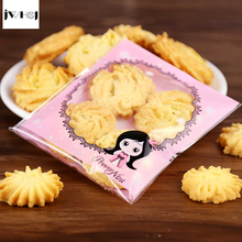 100 pcs pink girl boy adhesive bag cookies diy Gift Bags for Christmas Wedding Party Candy Food&Handmade soap Packaging bags