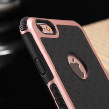 Silicone + Plastic Anti Shock Impact Shield Armor Case For iPhone 6 6S 7 Plus 6plus Case 5 5S SE Rugged Heavy Duty Back Cover