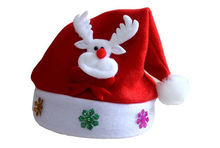 Christmas Party Cap Santa Velvet Hat Santa Claus Deer Costume Party Decoration