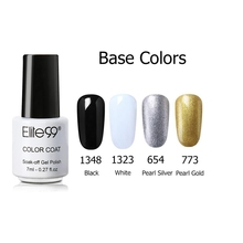 Elite99 7ml Cracked Nail Polish Soak Off Lacquer Varnish Base & Top Coat UV LED Base Color Red Black White Silver And Gold