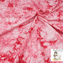50x140cm Soft Linen Cotton Slub Fabric Pink Tie-dyed Pattern Fabrics for Sewing Clothes Garments Dress Tissue Cloth 1Pcs/Lot