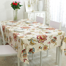 100% Cotton Table Cloth Europe Pastoral Flora Print High Quality Tablecloth Table Cover manteles para mesa Free Shipping