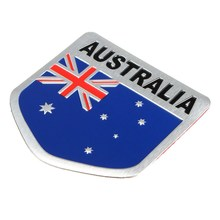 Australian Flag 3D Car Sticker Emblem Badge Decal Truck Alloy Aluminum Metal