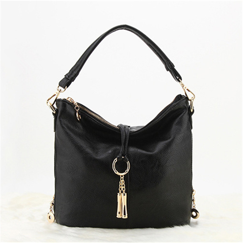 New women Messenger bag Tassel chain Leather Handbags female Small tote bag Crossbody Shoulder bags for women ladies Hand bags<br>
