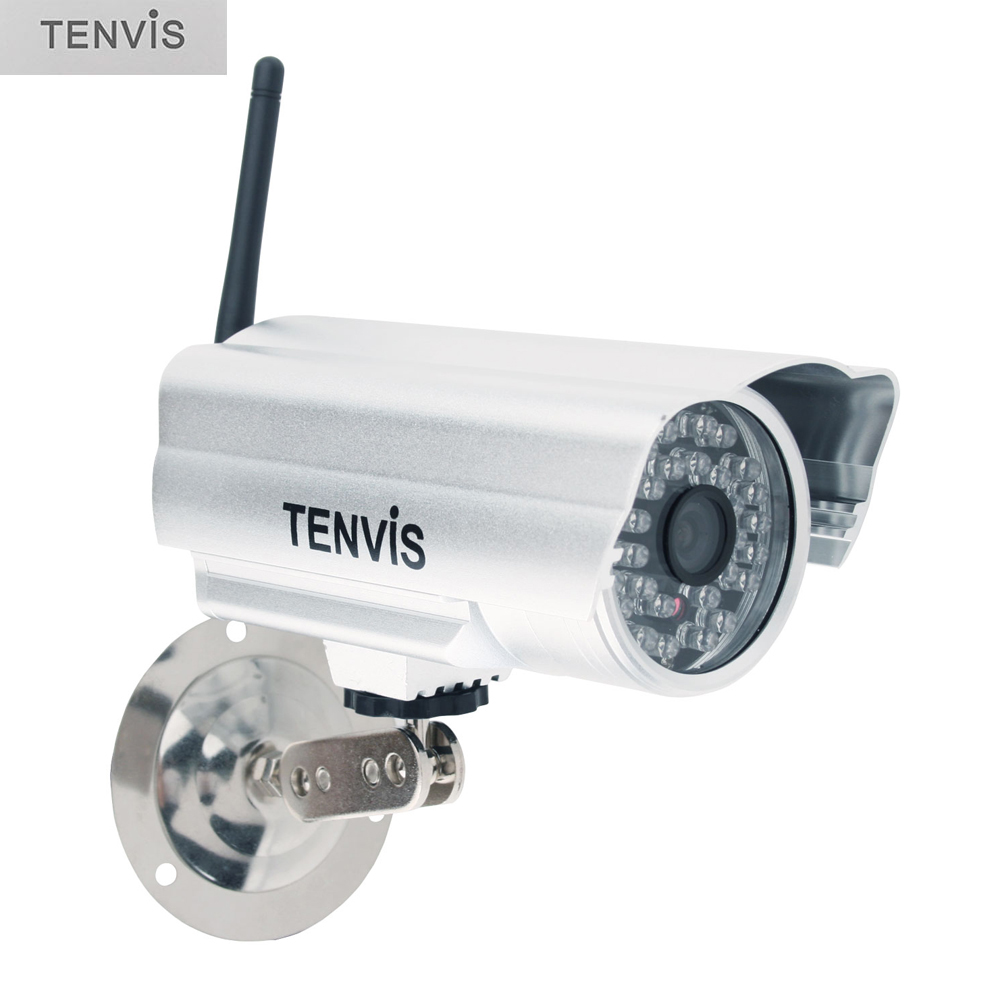 TENVIS IP602W Waterproof Fake Camera Outdoor Indoor Stainless Steel Dummy CCTV Surveillance Camera 30 LED for Home Safety Sliver<br><br>Aliexpress