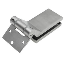 Stainless Steel Furniture Glass Clamp bathroom accessories office partition hinge(China)