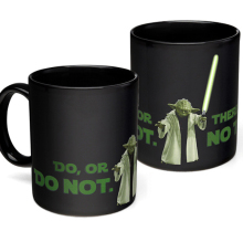 1Piece Star Wars Yoda Heat Change Mug Color Changing Mug Ceramic Coffee Cup Heat Sensitive Reveal Cups Magic Cup