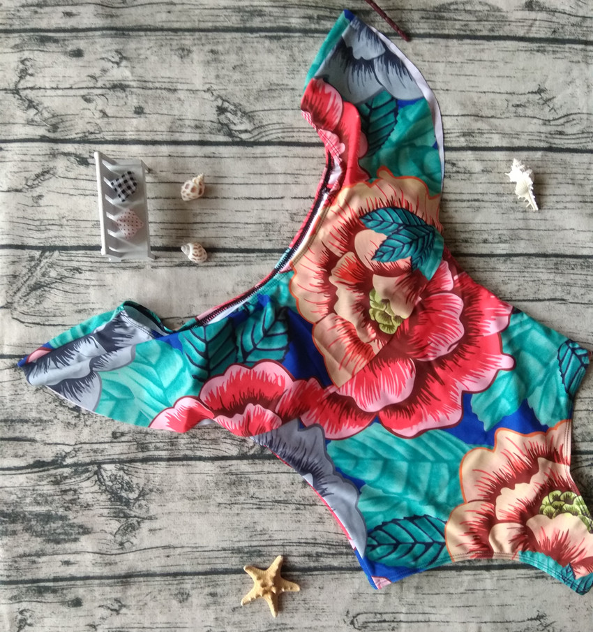 BXXNXX Off The Shoulder Women Ruffle Swimwear Female Bathing Suit Monokini Thong Swim Wear One Piece Swimsuit