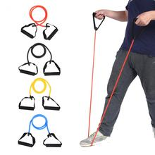 Exercise Cord Tube Band with Handles Resistance Band Theraband Pliates Training