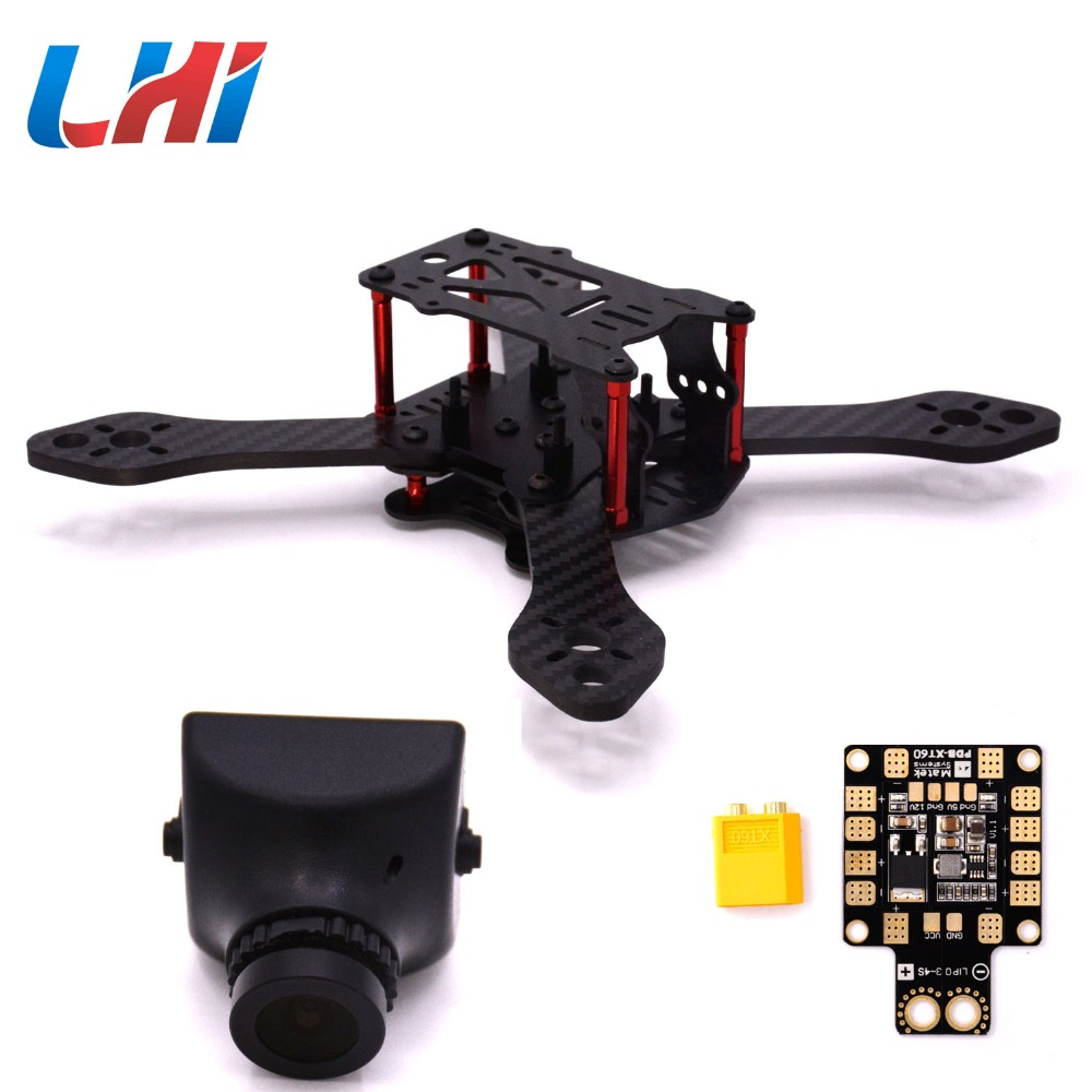 Martian III Carbon Fiber Quadcopter Frame camera drone 190mm 4-Axis 4mm Arm with Power Distribution Board &amp; XT60<br>