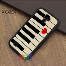 SCOZOS Piano keyboards love valentines music gift idea case for samsung galaxy S3 S4 S5 S6 S6 edge S7 S7 edge S8 Note 3 4 5(China)