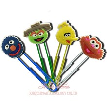 4pcs/set HOT SESAME STREET PVC Paper Clips Holder,Cartoon Bookmarks,Party Gifts Office School Supplies,Magazine Label Reading