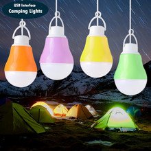color portable usb light bulb 5730 SMD led lamp camping lantern For PC Mobile Power Pack laptop USB port light bulb