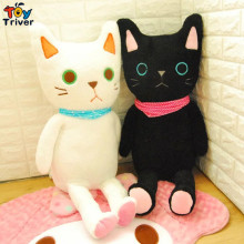Kawaii stuffed plush Japan black white cat toy doll baby girl boy kids birthday christmas gift shop home decoration Triver Toy