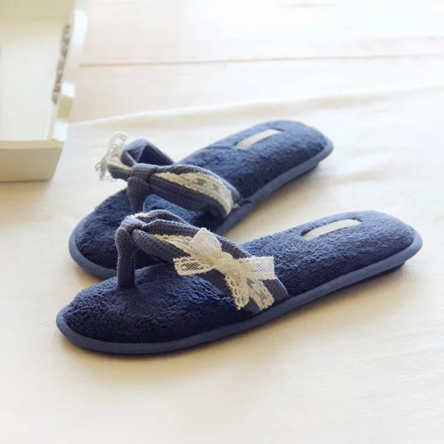 Cotton Lace Bow Women Shoes Summer Home Spring Breathable House Indoor Slippers Pasoataques Brand Asspfct059<br><br>Aliexpress