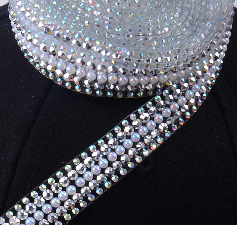 5yard 15mm wide hotfix rhinestone Trim Mesh strass chain cyrstal Banding  bridal applique for garment wedding 69492ef3e34b