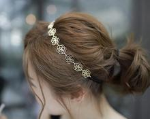 HOT Women/Girl's New fashion vintage gold color Head wear flower headbands hair accessories wholesale HA40(China)