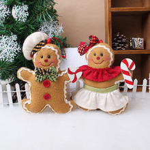 Christmas tree ornament decoration biscuits doll plush Christmas tree unicorn gingerbread man Christmas decoration(China)
