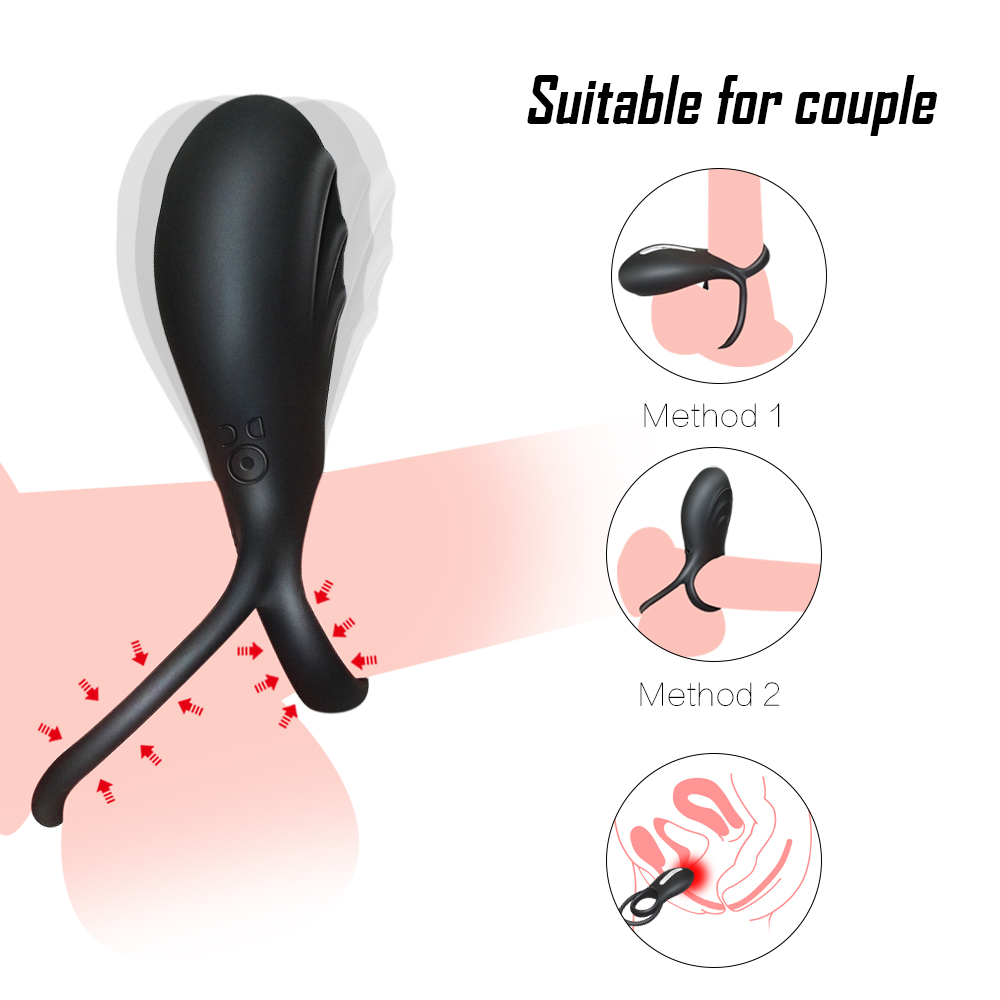 _03Silicone USB Penis Clitoris Ring Vibrator for Men Delay Rings Penis Cock Sexy Toys for Male Sex Products Ring Vibrator for Woman