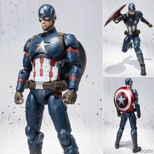 NEW Hot 16cm avengers Captain America Super hero movable action figure toys collection gift