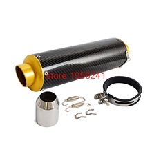 Motorcycle Universal 51mm Slip-On Carbon Fiber CNC Exhaust Muffler Pipe Fit 125CC-1200CC Street Sport Racing Scooters