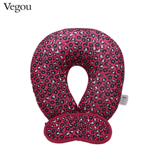 Vegou New Classic Leopard U Shaped Travel Eye Massage Pillow Neck Car Travel Cushion Christmas Gift Foam Pillows For Bodyrest(China)