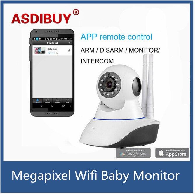 ASDIBUY Wireless WiFi IR Cut IP Camera HD 1MP CMOS Security CCTV IP Camera Alarm PT For wifi and GSM sms alarm system<br>