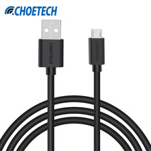 CHOETECH Micro USB 2.0 Cable,5V 2.4A 1M A Male to Micro B Male Fast Charging Data&Transfer Mobile Cable For Samsung for Xiaomi(China)
