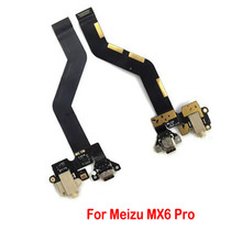 Dock Connector Micro USB Charger Charging Port microphone Flex Cable Complete Parts  For Meizu MX6 Pro