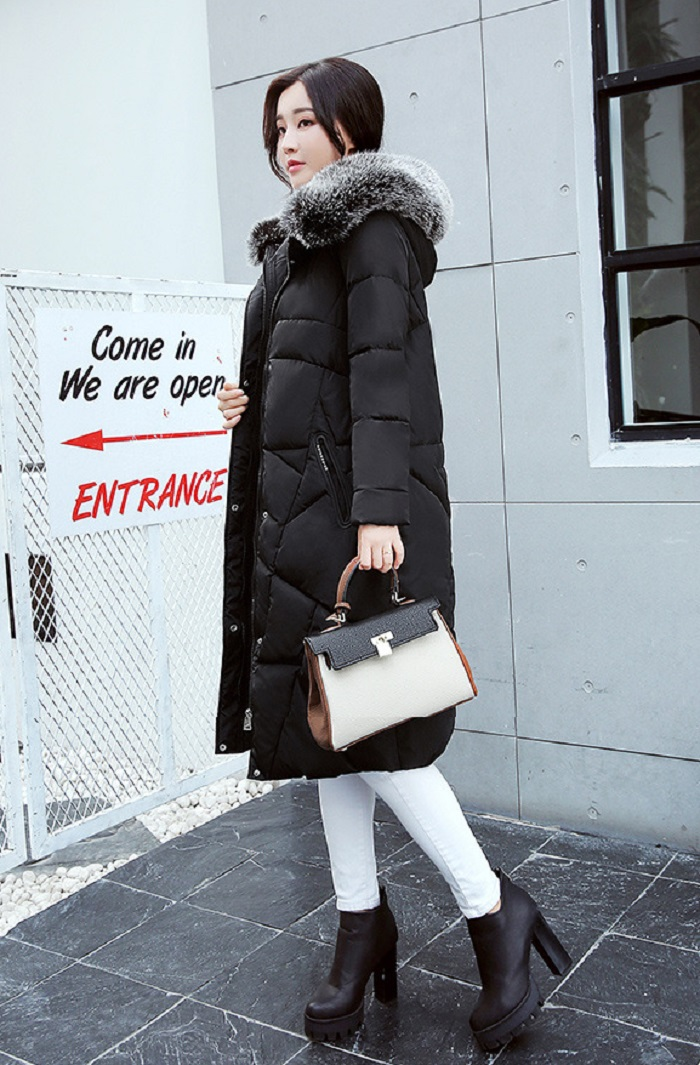 2017 Winter Women Coat Thicken Warm Long Jacket women coat girls long slim big coat jacket Down Parka+12 (2)