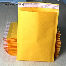 20pcs/LOT Wholesale Large Big Size Manufacturer Yellow Kraft bags bubble mailers padded envelopes paper mailer MAILING bag(China)
