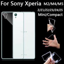 Cell Phone Case For Sony Xperia M2 M4 M5 Z Z1 Z2 Z3 Z4 Z5 Compact Mini Cover M Z 1 2 3 4 5 Ultrathin Shell Silicone Transparent