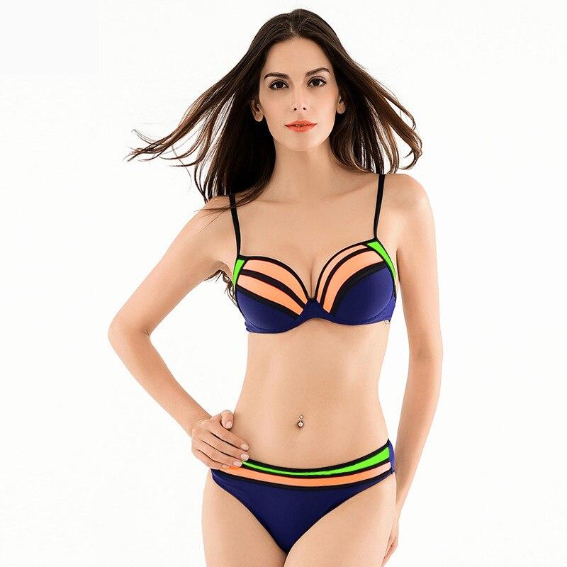 2016 halter bikini set bathing suits sexy swimsuits women swimwear bikinis beachwear swimming suit strappy  bra free shipping<br><br>Aliexpress