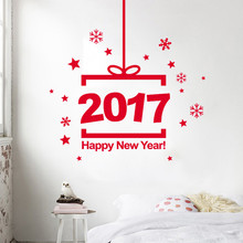 Digital Snowflakes star wall window stickers Merry Christmas Wall Sticker Home Shop Windows Decals Removable(China)